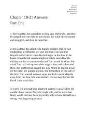 how to kill a mockingbird chapter 18