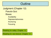 Psychology 365 Lecture 27 (March 30) posted