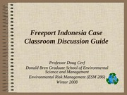 Freeport Indonesia case discussion