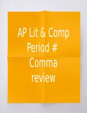 AP Comma Template 2016 - (STUDENT) Paige Renner.pptx