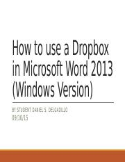 How to use a Dropbox in Microsoft Word.pptx
