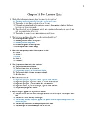 Chapter 14 Post-Lecture Quiz with answers