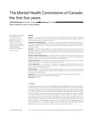 The Mental Health Commission of Canada - the first five years.pdf