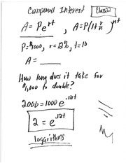 Class 22 Notes (Logarithm Functions)