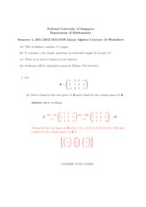 Lecture 14 Worksheet Solution