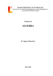 Lecture on Algebra