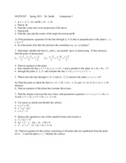 MATH 207 Spring 2015 Assignment 1