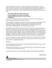External auditors play a critical role in validating company financial information.docx