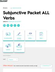 Subjunctive Packet ALL Verbs Flashcards | Quizlet
