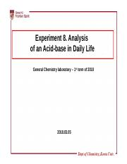 8_Analysis of an Acid-base in Daily Life pptx - Experiment 8