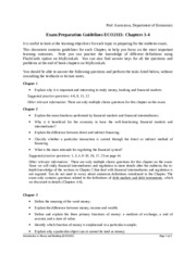 Exam preparation guidelines 2014 Chapters 1 to 4