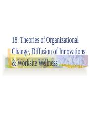 18. Org Change Diffusion & Worksite '16(1)