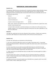 Capital Gains Tax test revision questions (2)