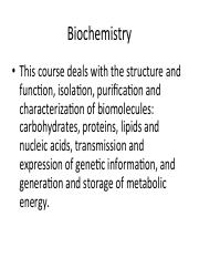 01 Intro to Biochem - Concentration of Solutions