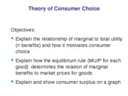 consumer choice w o surplus