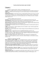Nutrition Final Exam Study Guide