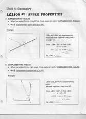 Lesson One Angle Properties Lecture Note