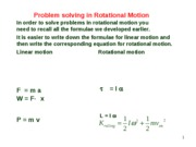 Lesson 4.3 Problem Solving in Rotation