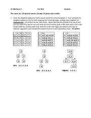 Exam 4 Solution Fall 2012 on Data Structures and Algorithms