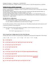 Electron Configuration Worksheets - Answer Key - Electron ...