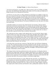 Kingston no name woman essay