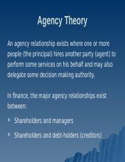 Lesson 3 Agency Theory.ppt