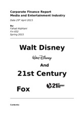 Walt Disney and 21st Century Report Final.docx