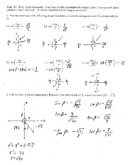 Test 2 Solution Summer 2014 on Pre-Calculus