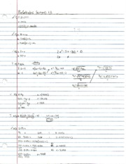 Pre-Calculus Section 1.2 Problems and Notes