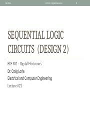 Lecture 21 - Sequential Logic Circuits (Design 2)