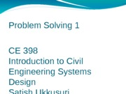 Lecture 8 Week 5 Problem Solving Session 1(1)
