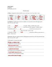 L08_Repaso_Answer_Key - DESCUBRE 1 QUIZZES ANSWER KEY LESSON 8