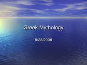 Greek Mythology, Lecture 1