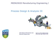 Manufacturing Process Design & Analysis III(1)