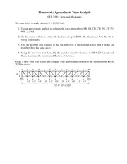 Homework on Approximate Truss Analysis