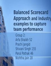 Grp 2 Balanced Scorecard Approach and Industry
