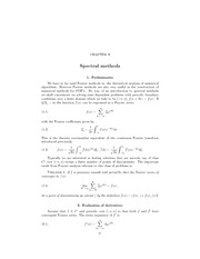 lecuture notes_SpectralMethods