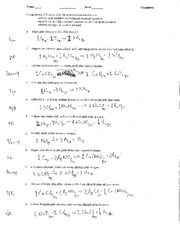 Worksheet Chemistry Predicting Products Worksheet predicting products a k answers