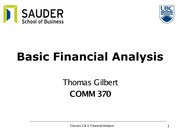 Classes 2 and 3 - Financial analysis with answers