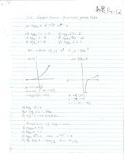 Pre-Calculus Logarithmic Functions Notes