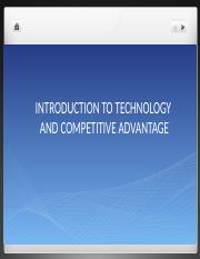 TM 201 - 12A Technology and Competitive Advantage - Sandoval