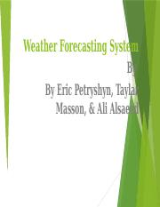 Weather Forecasting System (1) (1).pptx