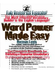 Word Power Made Easy Norman Lewis.PDF
