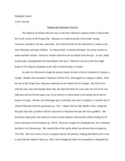 Odyssey philosophy essay?