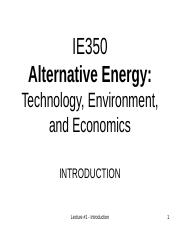 Lecture # 1 Introduction, Energy and Power (1)