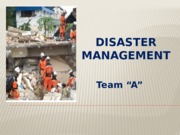 HCS 446 Week 5 Learning Team Assignment Disaster Management Presentation