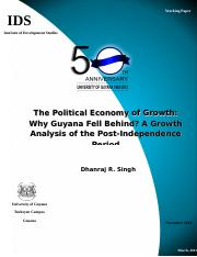 November- Political Economy of Growth.doc