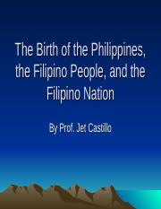 (4) Birth of the Philippines updated