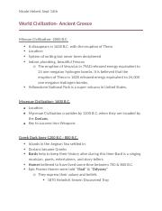 World Civ Ancient Greece Notes