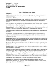 Law Final Exam Study Guide, by Michelle Murphy & Gerald Williams